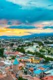 Top View Old Colorful Town, Kura Mtkvari River Summer Tbilisi, Georgia Royalty Free Stock Image