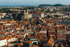Top view old downtown of Porto Royalty Free Stock Photos
