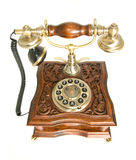 Top view of Old-fashioned telephone Royalty Free Stock Photography