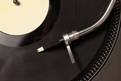 Top view of old fashioned turntable Stock Images
