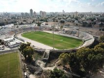 Top view of an old football stadium in Beer Sheva Royalty Free Stock Image