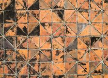 Top view of footpath tiles background. Top view of old  footpath tiles background Royalty Free Stock Images