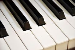 Top view of  old grunge piano keyboard Royalty Free Stock Photography
