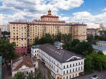 Top view of old houses in center in Moscow, Russia. Top view of old houses in a center in Moscow, Russia royalty free stock photos