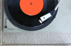 Top view of old record player Stock Photography