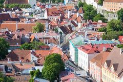 Top View of the old Tallinn Royalty Free Stock Photo