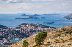 Top view of the old town, Dubrovnik Stock Photography