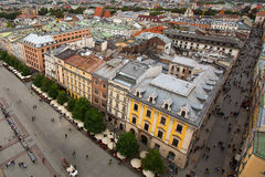 Top view of Old Town Krakow, Poland. Travel. Royalty Free Stock Photo