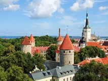 Top-view of the Old Town of Tallinn Stock Photography