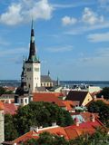 Top-view of the Old Town of Tallinn Royalty Free Stock Photos