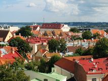 Top-view of the Old Town of Tallinn Royalty Free Stock Images