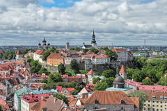 Top view of the Old Town of Tallinn, Estonia Royalty Free Stock Images