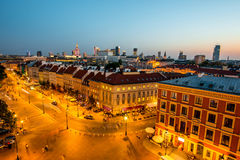Top view of the old town in Warsaw Stock Images