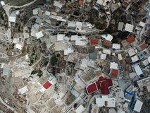 Top view of Olympos in Karpathos island, Dodecanese Greece. Top view of old tradition village Olympos in Karpathos island, Dodecanese Greece royalty free stock photos