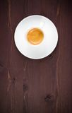 Top of view of one cup of italian espresso coffee Stock Image