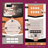 Top view one page website template design Stock Image