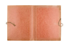 Top view of open old document folder on white Royalty Free Stock Photography