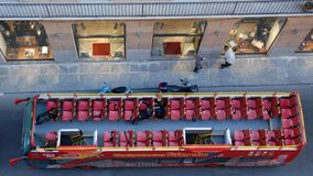 Top view on an open sightseeing-bus Stock Image
