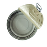 Top view of opened can Royalty Free Stock Image