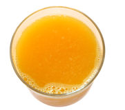 Top view of orange juice Royalty Free Stock Photography