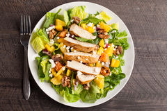 Top view of Orange Walnut Chicken Salad Stock Photos