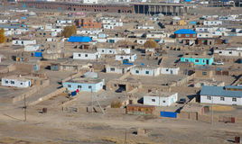 Top view of the ordinary Mongolian city Stock Photos
