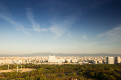 Top view from osaka castle Royalty Free Stock Images