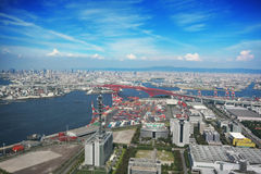 Top view of Osaka city Stock Photography
