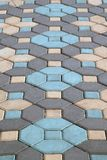 Top view outdoor texture colorful footpath floor no body in the city. royalty free stock photo