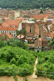 Top view over the Brasov Council Square and History Museum Stock Photos