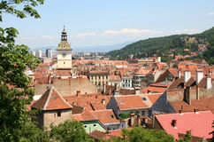 Top view over the center of Brasov - Romania Royalty Free Stock Photography
