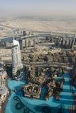 Top view over Dubai from Burj Khalifa skyscraper Stock Image