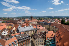Top view over the old town of Bayreuth Germany Bavaria Stock Photos