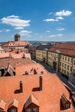 Top view over the old town of Bayreuth Germany Bavaria Royalty Free Stock Photography