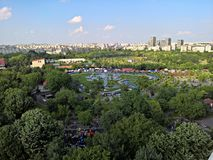 Top view over the park Royalty Free Stock Photos