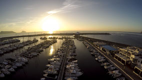 Top view over Yacht Marina on Spanish Costa Blanca - Altea Stock Photo