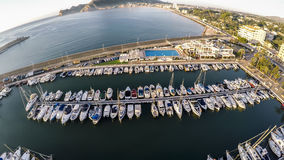 Top view over Yacht Marina on Spanish Costa Blanca - Altea Royalty Free Stock Photography