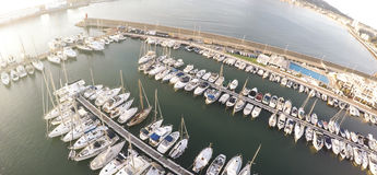 Top view over Yacht Marina on Spanish Costa Blanca - Altea Royalty Free Stock Photos