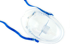 Top view of oxygen mask on white Royalty Free Stock Image