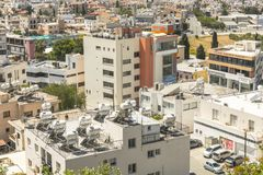Pafos , view from the top. Top view on the Pafos, Cyprus Island , Europe Royalty Free Stock Photography