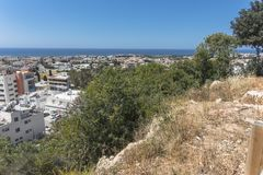 Pafos , view from the top. Top view on the Pafos, Cyprus Island , Europe Royalty Free Stock Images