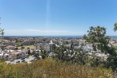 Pafos , view from the top. Top view on the Pafos, Cyprus Island , Europe Royalty Free Stock Photos