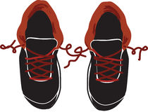 Top view of pair of boys sneakers -  Royalty Free Stock Photo