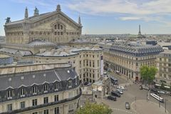 Top view of Palais or Opera Garnier The National Academy of Music Royalty Free Stock Photo