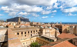 Top view of the Palermo cityscape, Sicily Royalty Free Stock Photos