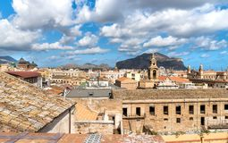 Top view of the Palermo cityscape, Sicily Stock Photography
