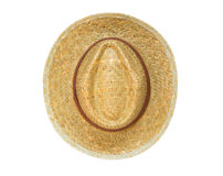Top view panama hat isolated on white background Royalty Free Stock Photo