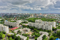 Top view on the panorama of city. Tyumen. Russia Royalty Free Stock Photo