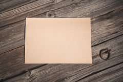 Top view of paper sheet Stock Image
