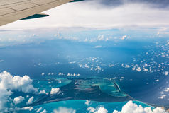 Top View of Paradise Beach, Bahamas Royalty Free Stock Image